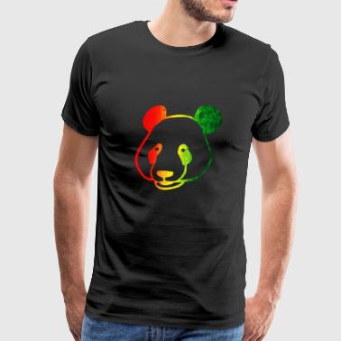 panda gift colorful face animal rights bear - Men's Premium T-Shirt