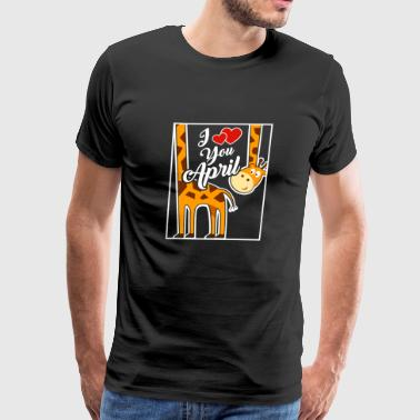 I Love April The Giraffe Funny TShirt - Men's Premium T-Shirt