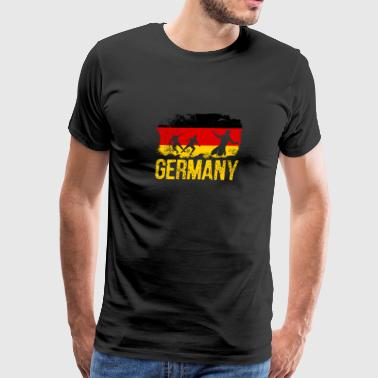 Germany soccer player flag of German T-Shirt - Men's Premium T-Shirt