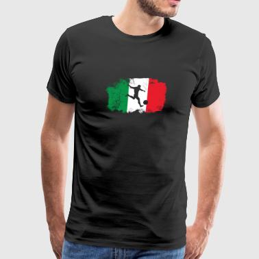 Italy soccer flag distressed style Long Sleeve T-S - Men's Premium T-Shirt