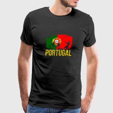 Portuguese soccer player flag of Portugal Long Sle - Men's Premium T-Shirt