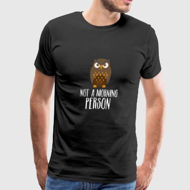 Owl Morning - Gift - Shirt - Men's Premium T-Shirt