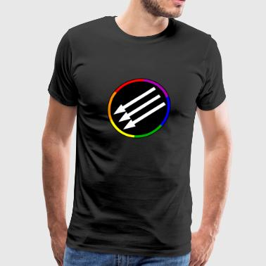 LGBTQ Pride Antifa Arrows Symbol - Men's Premium T-Shirt