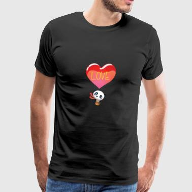 Panda in Love | Valentine's Day | Valentinestag - Men's Premium T-Shirt