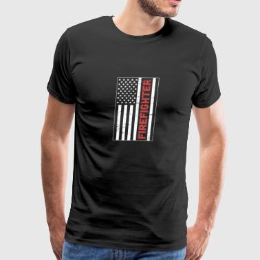 FIREFIGHTER And United States Flag - Men's Premium T-Shirt