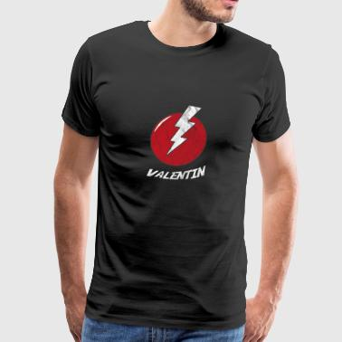 Funny Bolt Name Shirt Superhero Valentin - Men's Premium T-Shirt