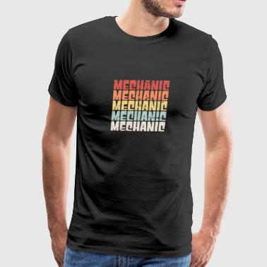 Retro 70s MECHANIC Text - Men's Premium T-Shirt