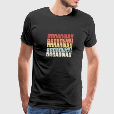 Retro 70s BROADWAY Text | Musical Theater - Men's Premium T-Shirt