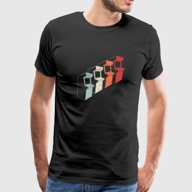 Vintage 80s Arcade Machines - Men's Premium T-Shirt