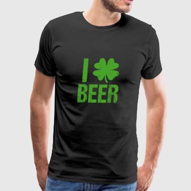 I Clover Beer - Shirt - St. Patrick's Day Gift - Men's Premium T-Shirt