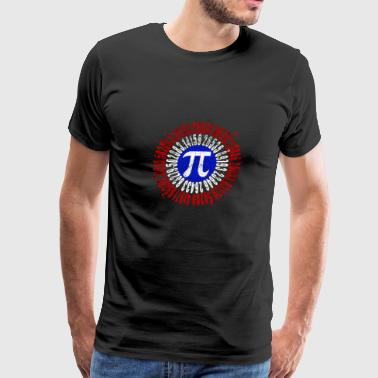 Captain Pi Superhero Shield Mathematic Symbol - Men's Premium T-Shirt