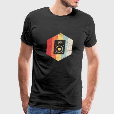 Retro Vintage Speaker Icon - Men's Premium T-Shirt