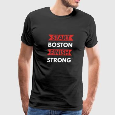 Start Boston Finish Strong Running - Men's Premium T-Shirt