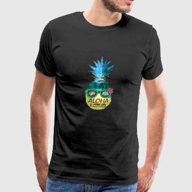 Aloha Beaches Pineapple Sunglasses Hawaiian Shirt - Men's Premium T-Shirt