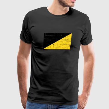 Distressed AnCap Anarcho Capitalist Flag - Men's Premium T-Shirt