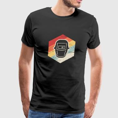 Retro 70s Welder Icon - Men's Premium T-Shirt