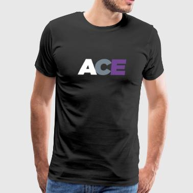ACE - Asexual Pride Flag Colors - Men's Premium T-Shirt
