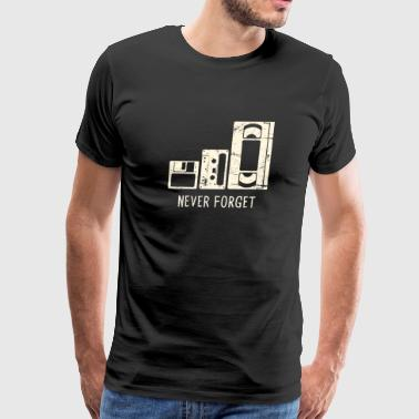 Floppy Disk, Cassette, VHS Tape - Men's Premium T-Shirt