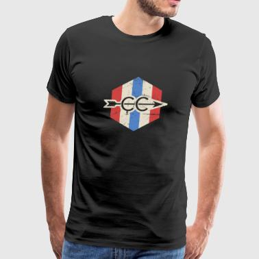 Vintage Patriotic Cross Country Icon - Men's Premium T-Shirt