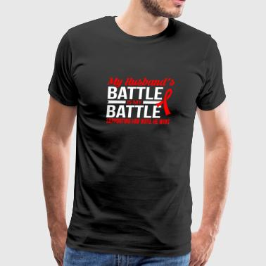 My Husbands Battle T-shirt - Men's Premium T-Shirt