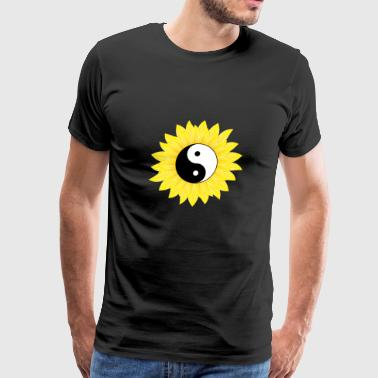 Yin Yang Sunflower Cool Light & Dark Balance - Men's Premium T-Shirt