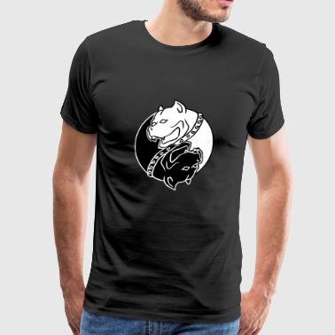Yin Yang Dogs Chinese Tai Chi Symbol Pitbull Lover - Men's Premium T-Shirt