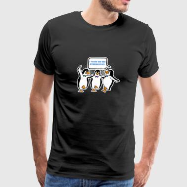 I Think We Are Overdressed Funny Penguins - Men's Premium T-Shirt