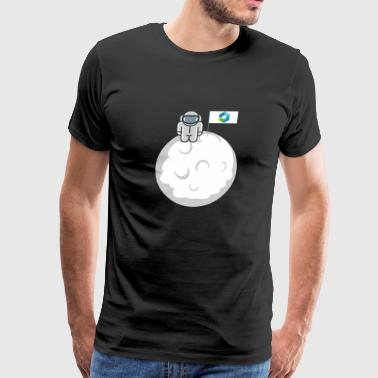 Ripple To The Moon Astronaut Digital Crypto XRP - Men's Premium T-Shirt