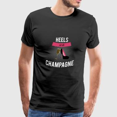 High Heels & Champagne Party Tee Shirt - Men's Premium T-Shirt