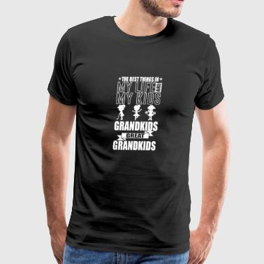 Grandparents The Best Things In My Life TShirt - Men's Premium T-Shirt
