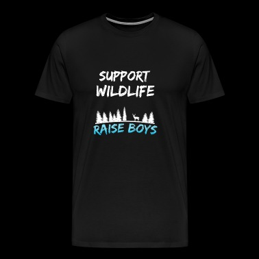 support wildlife raise boys - Men's Premium T-Shirt