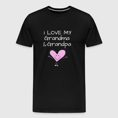 I love my grandma and grandpa shirt - Men's Premium T-Shirt