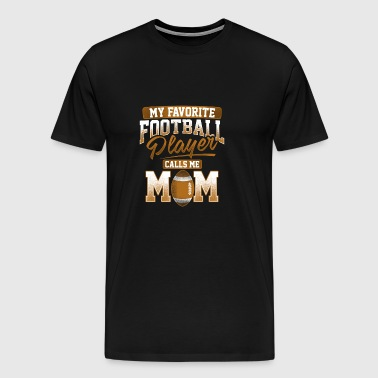American Football Player Mom Gift - Men's Premium T-Shirt