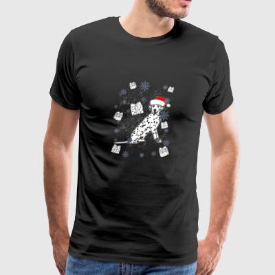 Dalmatian Santa Christmas Gift Dog Breed - Men's Premium T-Shirt