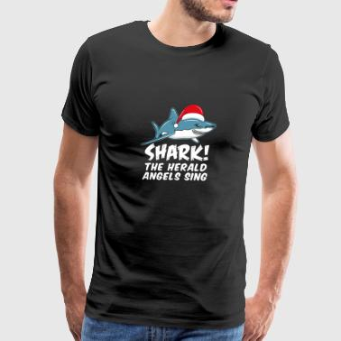 Shark the Herald Angels Christmas gift - Men's Premium T-Shirt