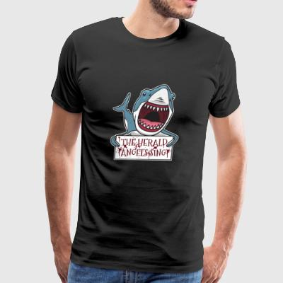 Shark The Herald Angels Sing Christmas Pun Gift - Men's Premium T-Shirt