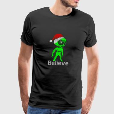 Alien Believe Gift Christmas - Men's Premium T-Shirt