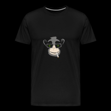 Monkey with Marijuana Weed cannabis - Men's Premium T-Shirt