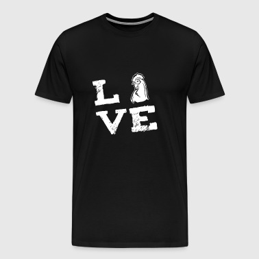 Chicken Chicken farmer farmer farmer love gift - Men's Premium T-Shirt
