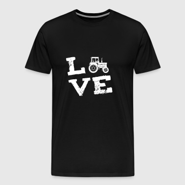 Tractor Farmer farmer love gift - Men's Premium T-Shirt