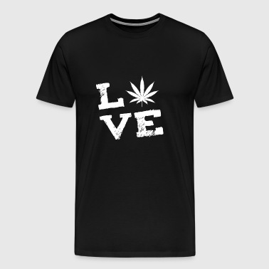 Cannabis Hemp Weed Hash Love Gift - Men's Premium T-Shirt