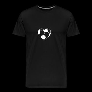 Soccer Heart gift for Soccer Lovers - Men's Premium T-Shirt