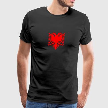 flamuri red albanian eagle dobble head - Men's Premium T-Shirt