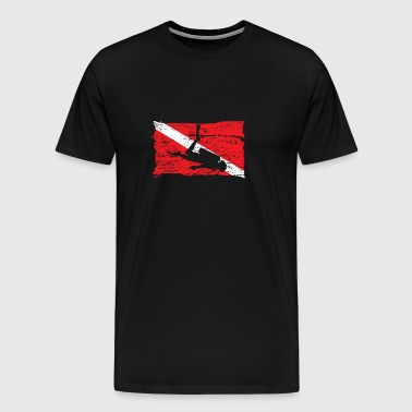 Diving Flag - Men's Premium T-Shirt