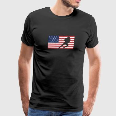 usa flag football | Amerikanische Flagge - Men's Premium T-Shirt