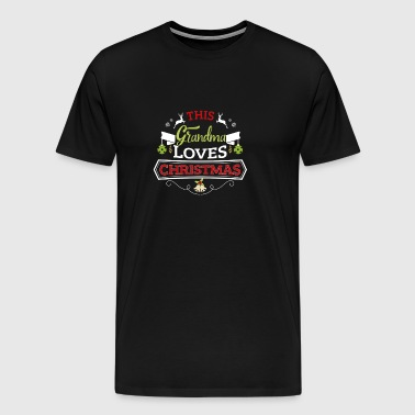 Grandma Gift - This Grandma Loves Christmas - Men's Premium T-Shirt