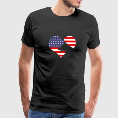 German Shepherd Patriotic Designs - Men's Premium T-Shirt