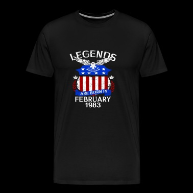 Legends Are Born In February 1983 - Men's Premium T-Shirt