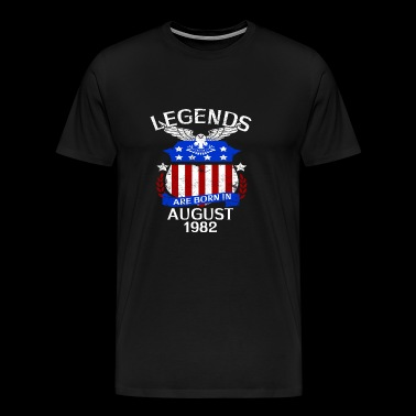 Legends Are Born In August 1982 - Men's Premium T-Shirt