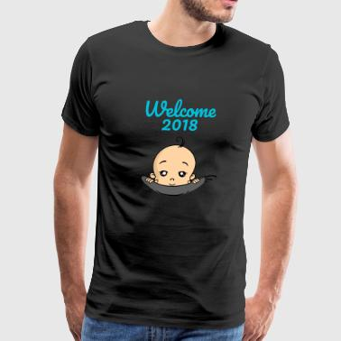 Welcome 2018 Baby Pregnant Pregnancy - Men's Premium T-Shirt